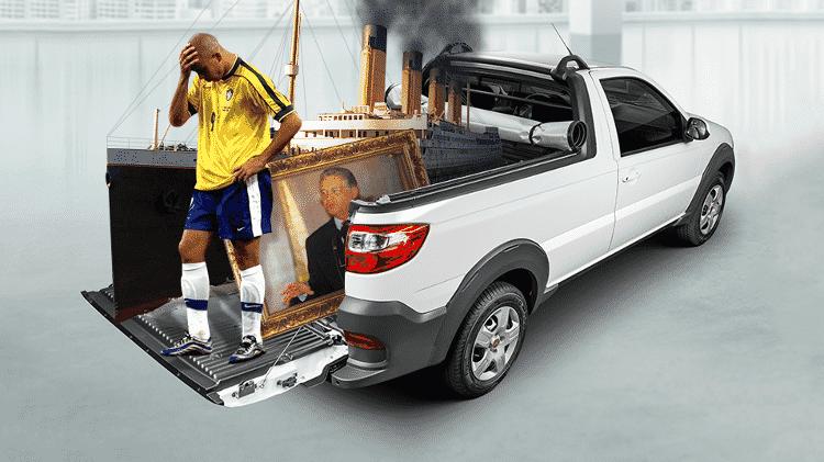 Fiat Strada LX - Montagem/Arte UOL - Montagem/Arte UOL