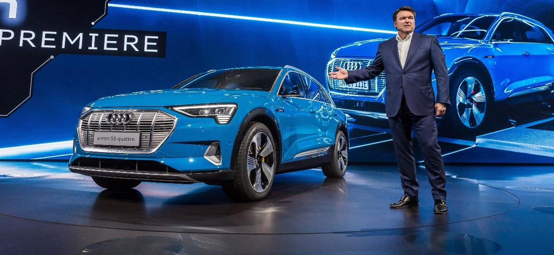 """Audi E-Tron simboliza a """"nova fase"""" da indústria na Europa, com ênfase na eletrificação até nos SUVs - Joe White/Reuters"""