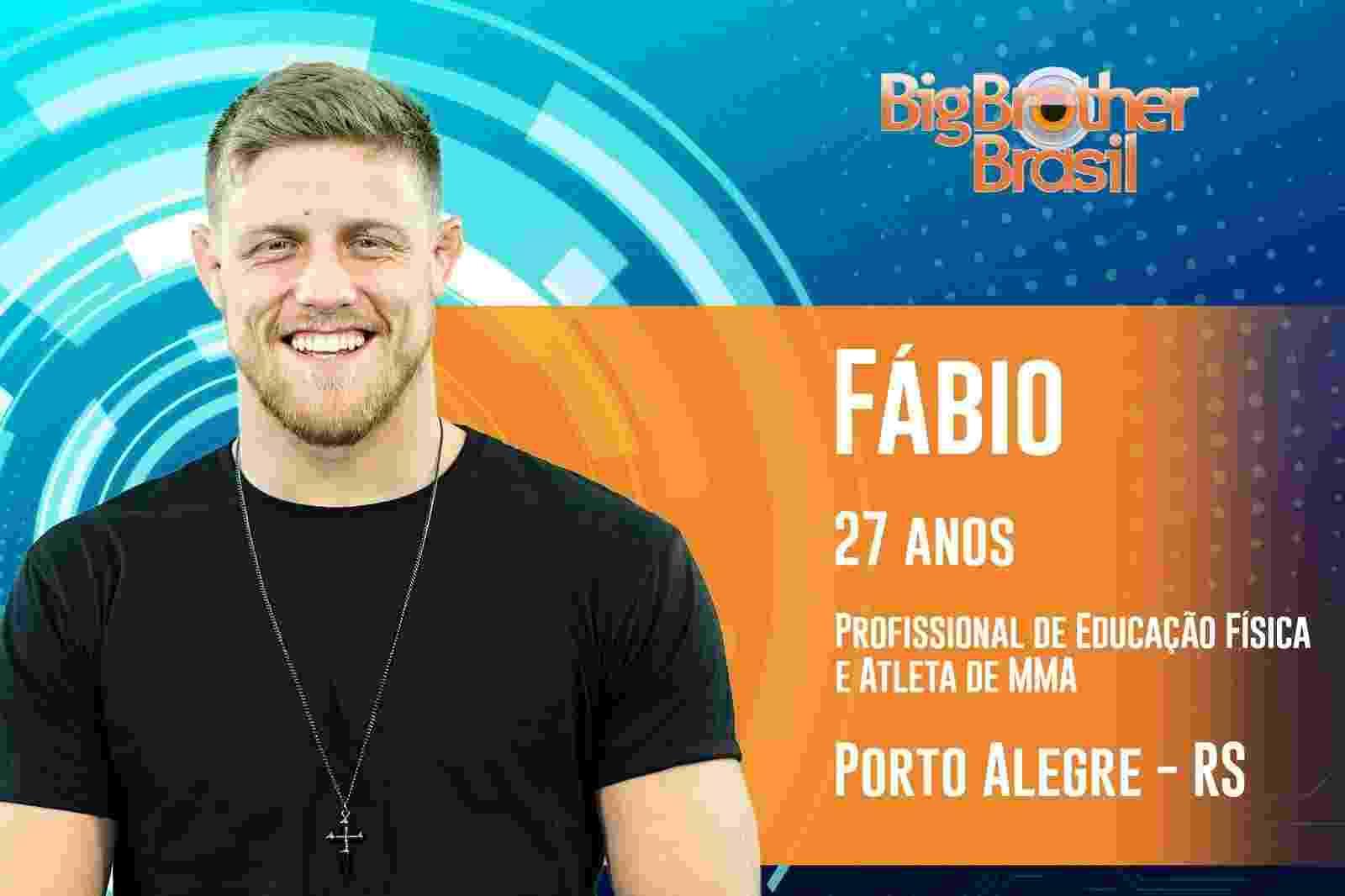 """Fábio é o sexto participante anunciado do """"BBB19"""" - Reprodução/TvGlobo"""