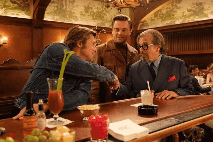"""Brad Pitt, Leonardo DiCaprio e Al Pacino em """"Once Upon a Time in Hollywood"""" - Reprodução"""