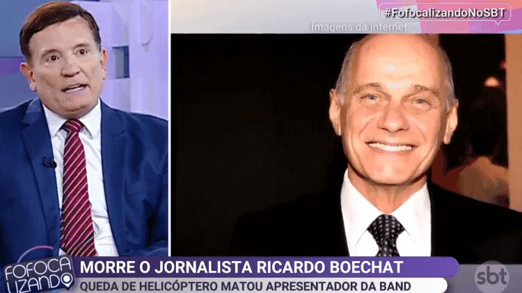 Roberto Cabrini homenageia Boechat - Reprodução/SBT - Reprodução/SBT