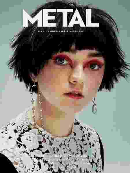 """A atriz britânica Maisie Williams é capa da nova edição da revista """"Metal"""" - Reprodução"""