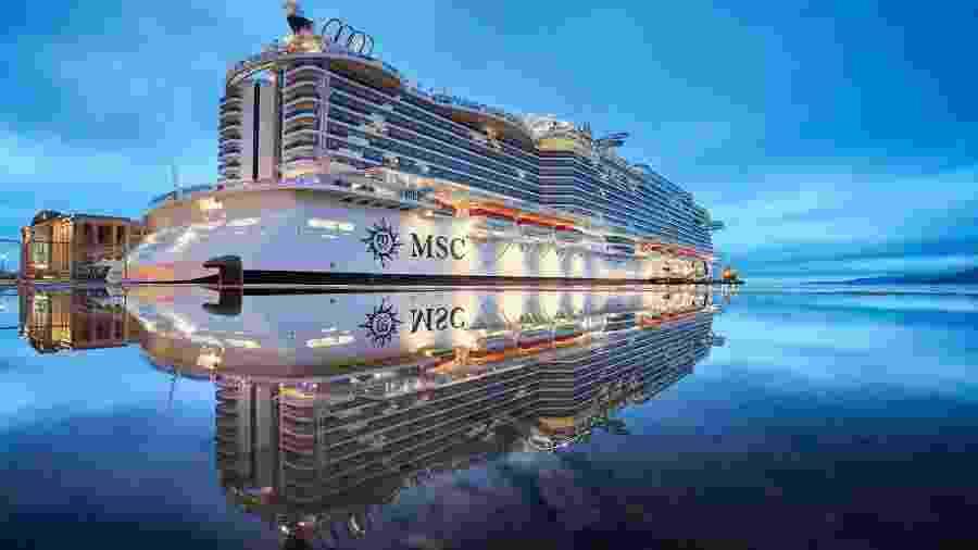 Navio da MSC Cruzeiros - Reprodução