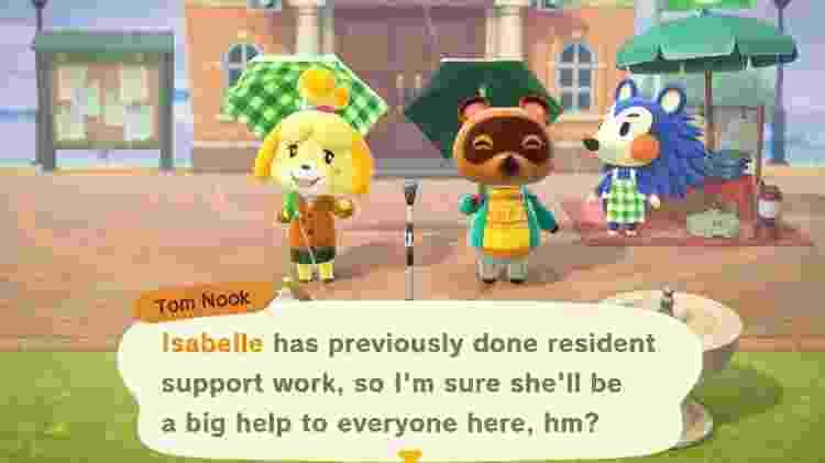 Animal Crossing Isabelle Tom Nook - Reprodução - Reprodução