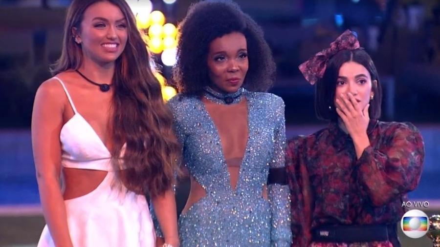 Rafa, Thelma e Manu, as três finalistas do BBB 20 - Reprodução/TV Globo