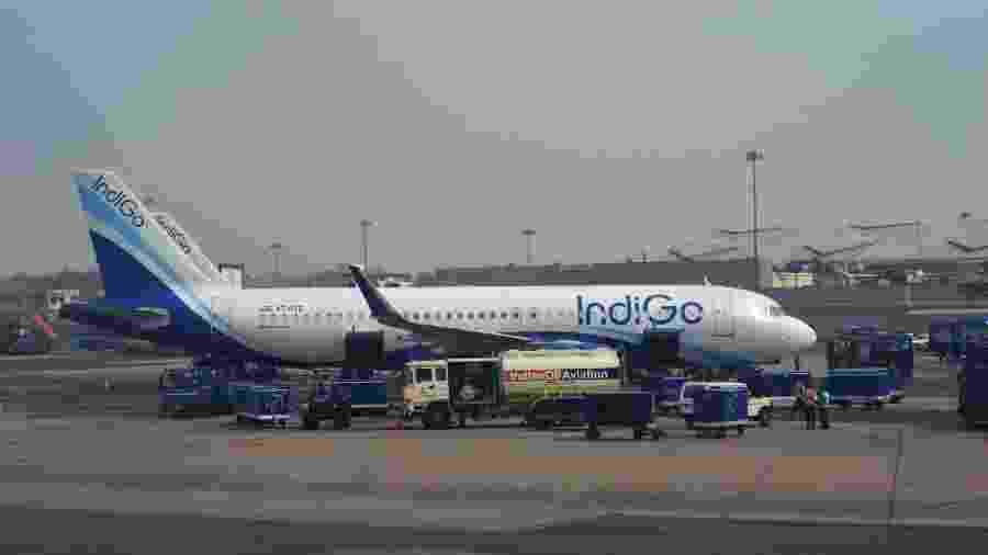 Aeronave da companhia aérea IndiGo - Getty Images