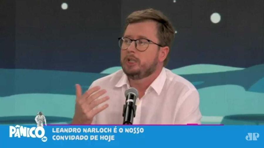 """Leandro Narloch em entrevista ao """"Pânico"""" - Reprodução"""