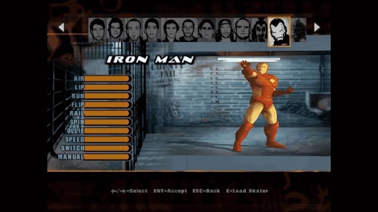 Iron Man Tony Hawk - Divulgação/Fanshare - Divulgação/Fanshare