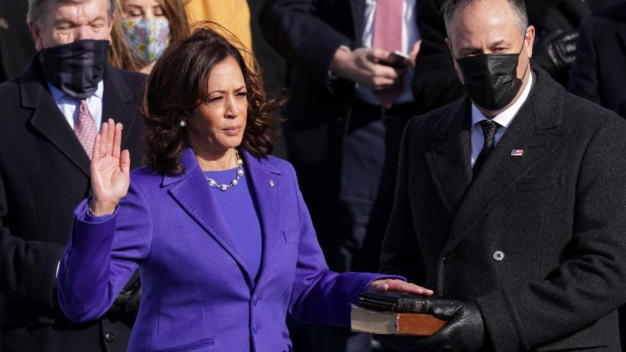 Cidade da Índia comemora posse de Kamala Harris como vice-presidente dos EUA - Getty Images