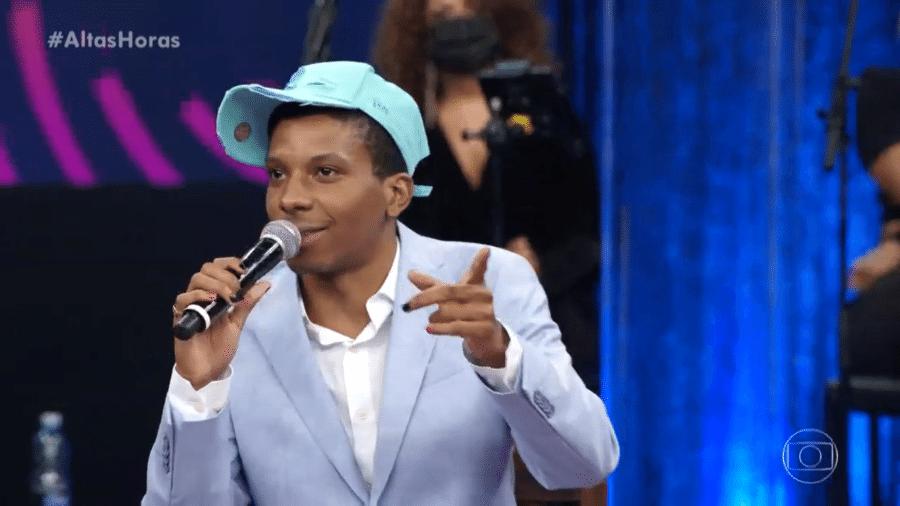 """Lucas Penteado foi um dos convidados da noite no """"Altas Horas"""" - Reprodução/TV Globo"""