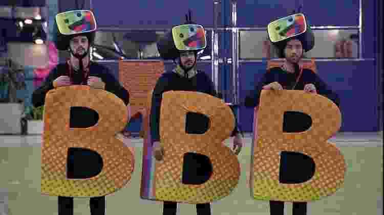 BBB 21: Arthur, Caio e Gilberto cumprem castigo do monstro - Reprodução/Globoplay - Reprodução/Globoplay