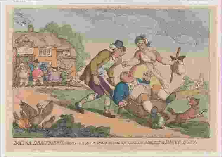 Gravura de Thomas Rowlandson, de 1810 - Heritage Images via Getty Images - Heritage Images via Getty Images