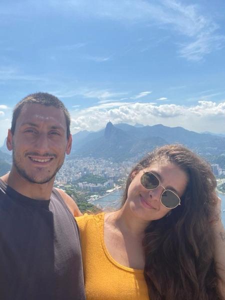 Jade Cavati e o namorado  Slavi  - arquivo pessoal