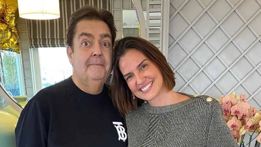 Fausto Silva e Luciana Cardoso - Reprodução/Instagram @lucard