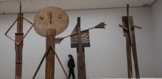 """Obra de Pablo Picasso, da série """"Bathers"""", exibida no Museu de Arte Moderna de NY - Kena Betancur/AFP Photo"""