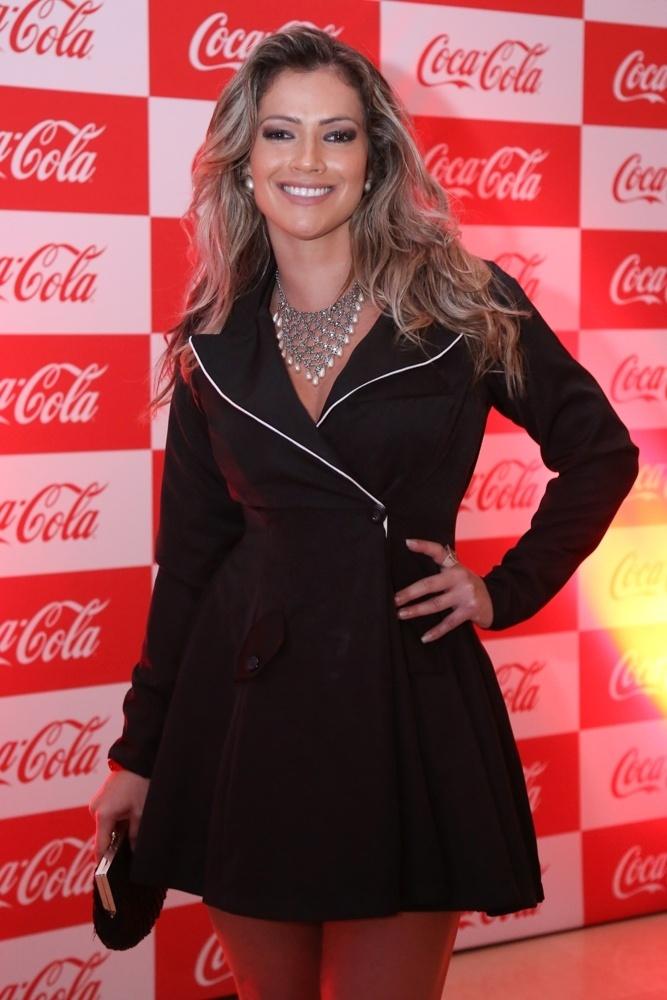 19.jan.2015 - Ex-BBB Fani durante evento no Rio
