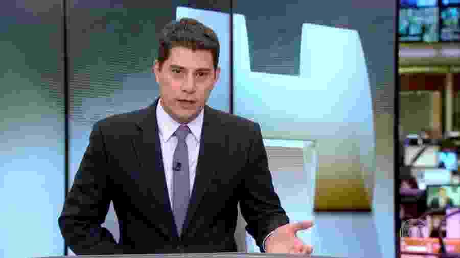 """Evaristo Costa leu carta de José Mayer durante o """"Jornal Hoje"""" - Reprodução/TV Globo"""