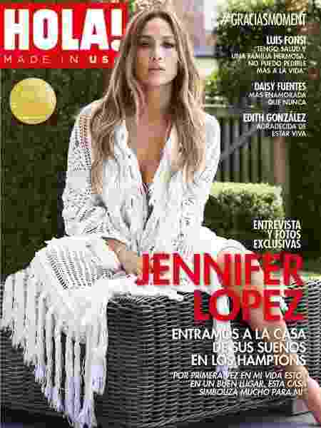 Jennifer Lopez na capa da Hola! - Divulgação
