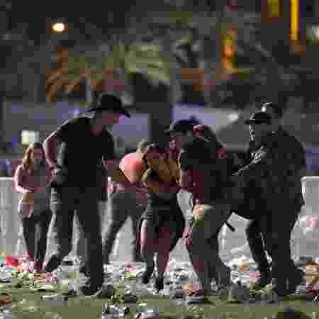 1.out.2017 - Ataque deixou 58 mortos e mais de 800 feridos em Las Vegas - David Becker/Getty Images/AFP