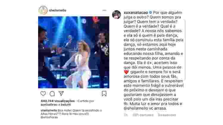 """Xuxa comenta foto de Sheila Mello: """"Você arrasa"""" - Reprodução/Instagram - Reprodução/Instagram"""