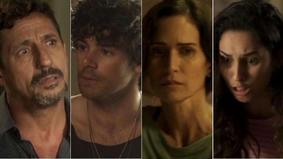 """Família de traficantes da novela """"Segundo Sol"""" - Fotomontagem/Reprodução/Globo"""