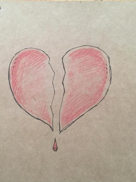 Desenho que Gary Andrews fez após a morte da mulher - Gary Andrews/Arquivo Pessoal