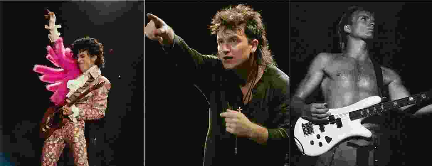 Prince, Bono e Sting em retratos feitos pelo fotógrafo Julian David Stone - Julian David Stone/Acervo Pessoal