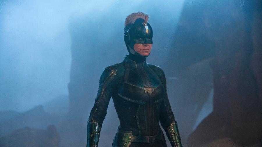 """Brie Larson em cena de """"Capitã Marvel"""" - Reprodução/Twitter"""