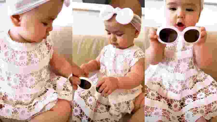 Zoe usa vestido que já pertenceu à Sabrina e à irmã da apresentadora, Karina - Reprodução/Instagram