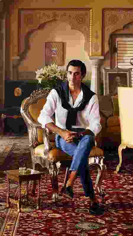 O Marajá Padmanabh Singh, de 21 anos, sucedeu seu avô como rei em 2011 - Divulgação/Airbnb - Divulgação/Airbnb
