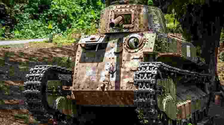 Um tanque da Segunda Guerra Mundial em Papua-Nova Guiné - Getty Images