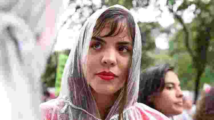 """""""Hoje, nessa manifestação, estou vivendo meu luto"""", diz Narubia Gonçalves - Gabriela Burdmann/UOL"""