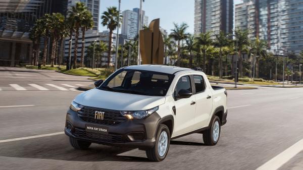 Fiat Strada Endurance Cabine Dupla Branca - Divulgação - Divulgação