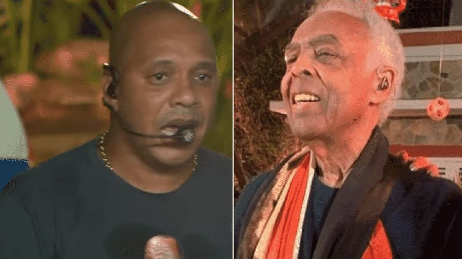 Molejão e Gilberto Gil fizeram lives na sexta-feira - Reprodução/YouTube