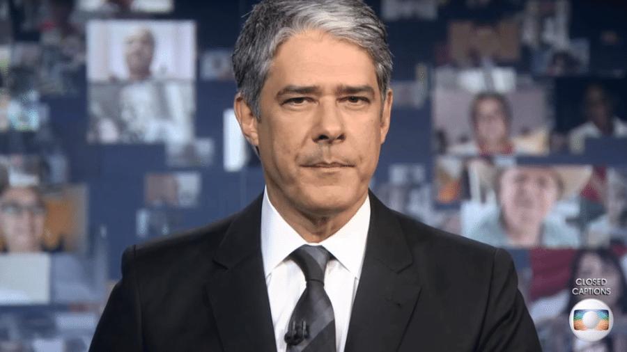 """O âncora William Bonner no """"Jornal Nacional"""" - Reprodução"""