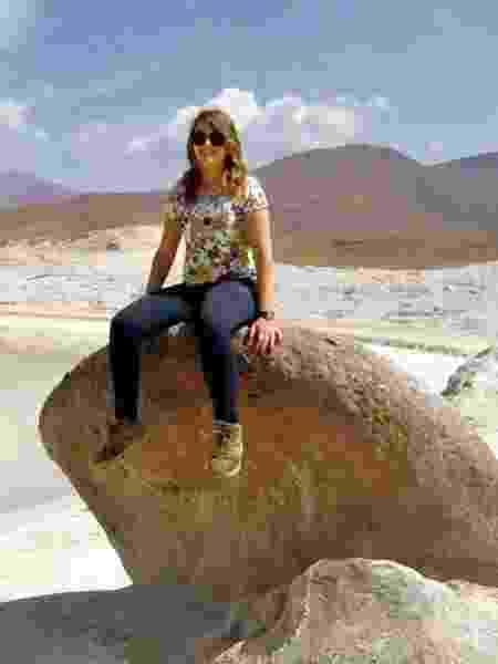 Ana Vieira na região do deserto do Atacama, Chile - Arquivo pessoal - Arquivo pessoal