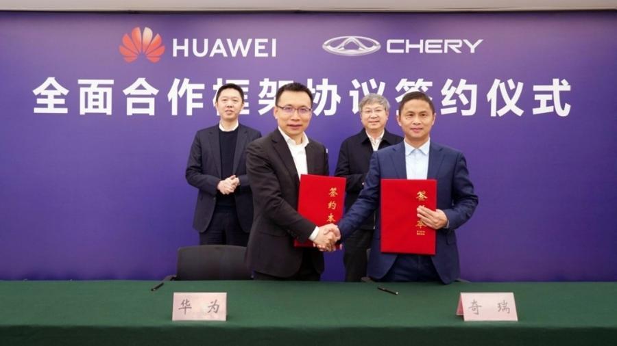 Chery e Huawei assinam parceria tecnológica - Divulgação