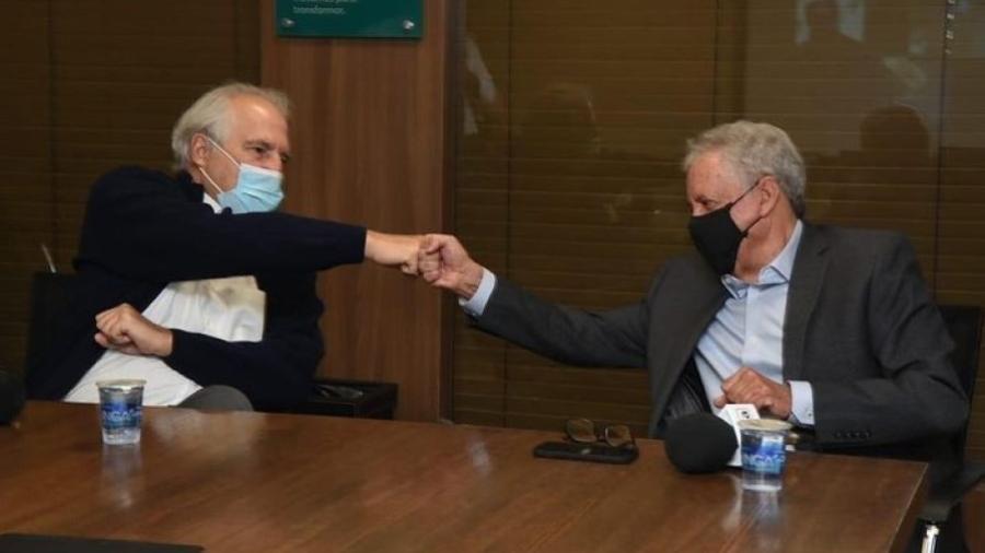 Rubens Menin, dono da CNN Brasil, e Emanuel Carneiro, antigo proprietário da Rádio Itatiaia - Reprodução/Instagram
