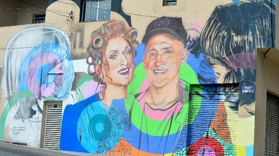 Paulo Gustavo ganha mural de grafite em São Paulo - Francisco Cepeda/AgNews
