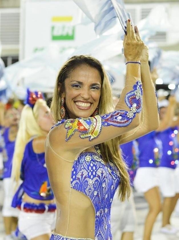 Fev.2016 - A coreógrafa Andréa de Cássia, responsável por uma ala e dois carros da União da Ilha