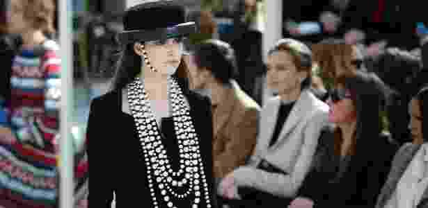 Chanel apresenta sua coleção para o Inverno 2017 na Semana de Moda de Paris - AFP