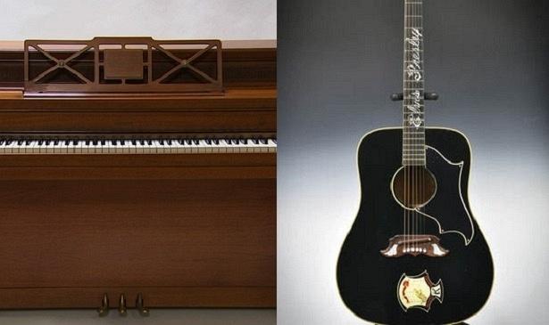 Piano de Lady Gaga e violão de Elvis, que serão leiloados nos Estados Unidos