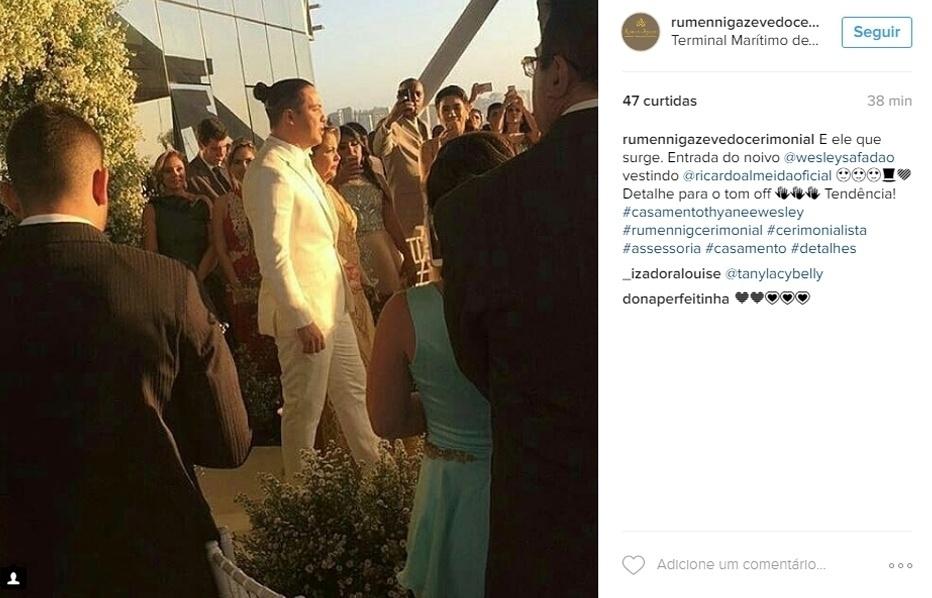 01.ago.2016 - Em cerimônia íntima, Wesley Safadão e Thyane Dantas se casam em Fortaleza