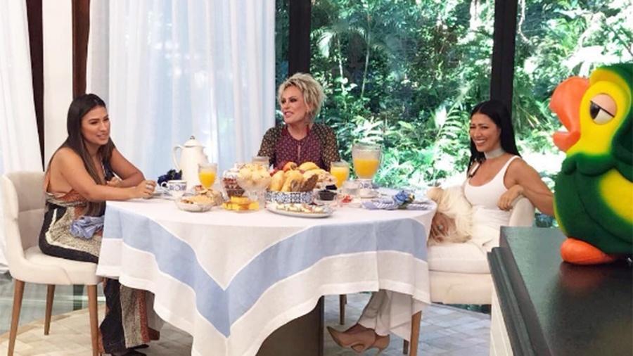 Ana Maria Braga recebe Simone e Simaria em seu programa - Reprodução/Instagram