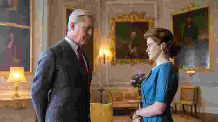 Edward e Elizabeth em cena da série The Crown, da Netflix - Robert Viglasky / Netflix