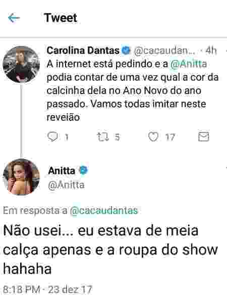 Tweet Anitta - Reprodução/Twitter - Reprodução/Twitter