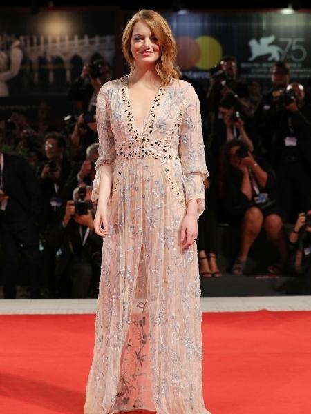 Emma Stone é uma das famosas pró-#MeToo que passaram pelo Festival Internacional de Cinema de Veneza 2018 - Getty Images