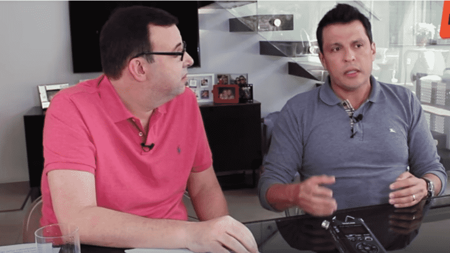 Marcelo Bonfá entrevista o humorista Ceará - Reprodução/Instagram