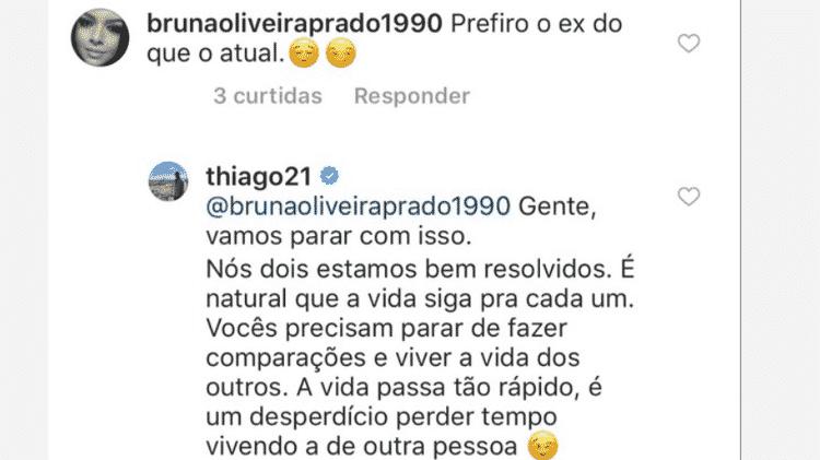 Thiago Magalhães responde para seguidora - Reprodução/Instagram - Reprodução/Instagram