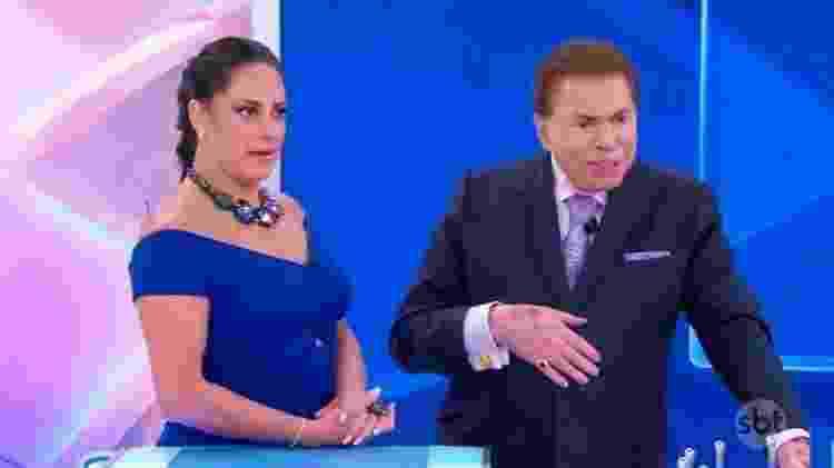 Silvio Santos e a filha Silvia Abravanel - Reprodução/SBT - Reprodução/SBT